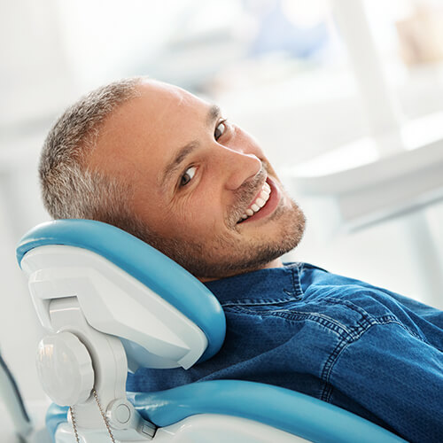 Image of a male patient on Dentist Chair